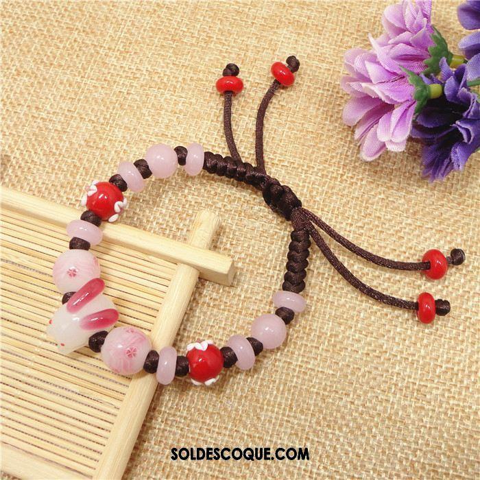 Bracelets Femme Bracelet Fleurs De Cerisier Lapin Rose Nouveau Pas Cher
