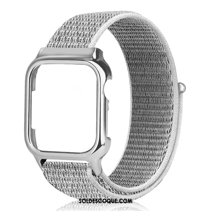 Coque Apple Watch Series 3 Nylon Créatif Tendance Noir Placage Soldes