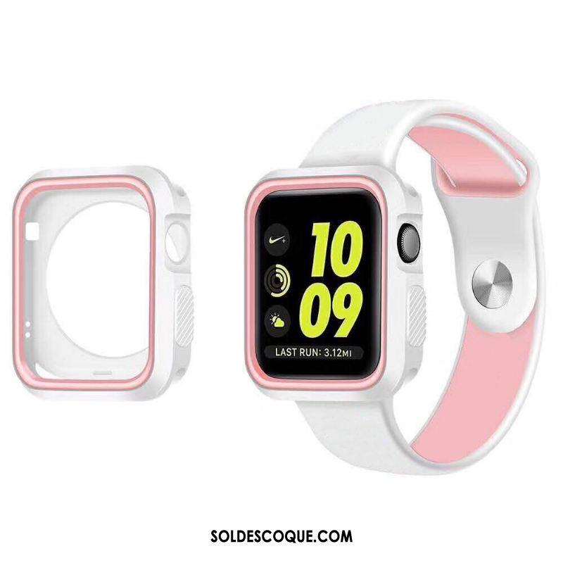 Coque Apple Watch Series 4 Étui Fluide Doux Noir Housse Pas Cher