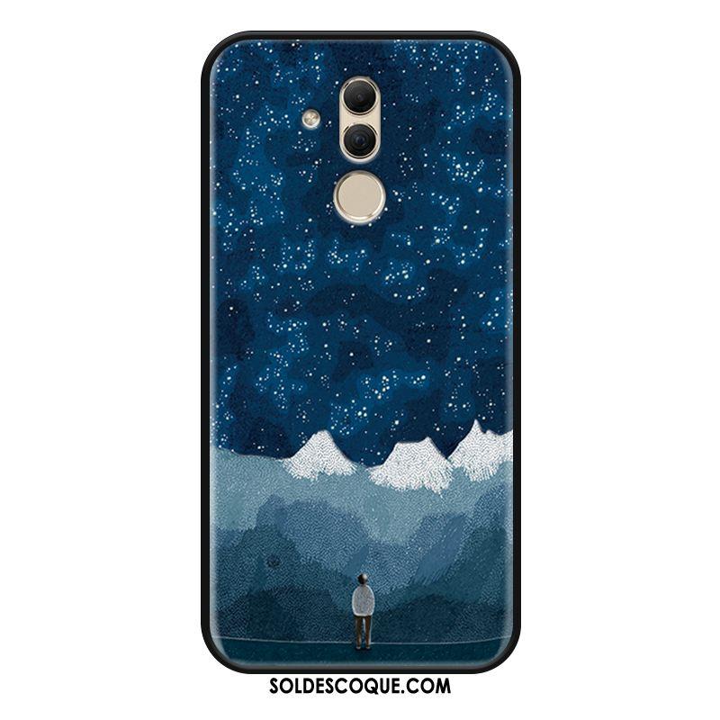 Coque Huawei Mate 20 Lite Incassable Téléphone Portable Gaufrage Tout Compris Ornements Suspendus Pas Cher