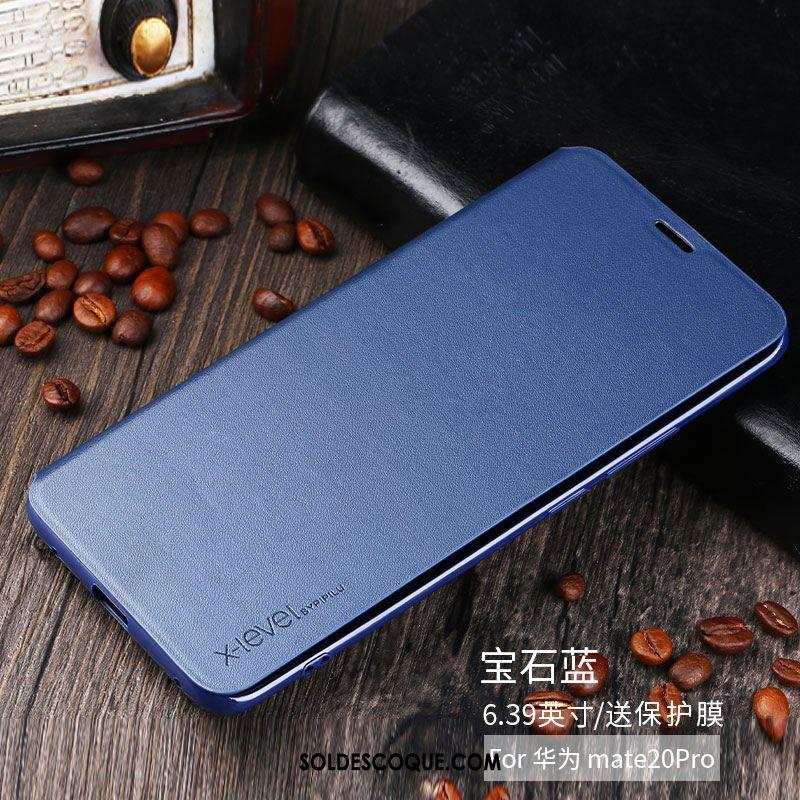 Coque Huawei Mate 20 Pro Nouveau Incassable Protection Étui En Cuir Blanc Soldes