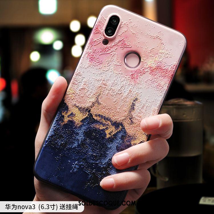 Coque Huawei Nova 3 Personnalité Délavé En Daim Étui Protection Tout Compris Soldes