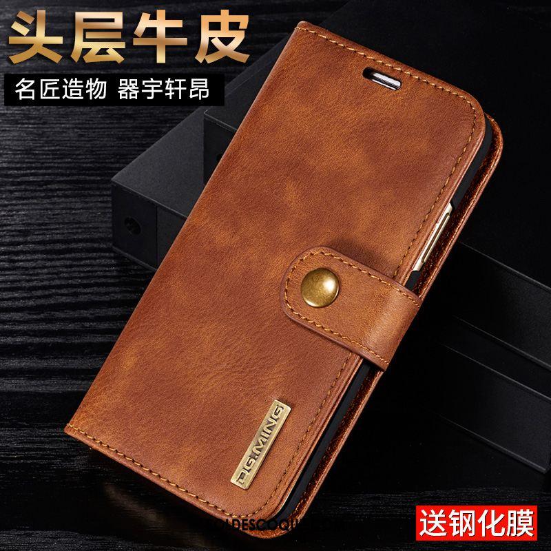 Coque Huawei Nova 3e Étui En Cuir Vin Rouge Clamshell Téléphone Portable Tout Compris Pas Cher