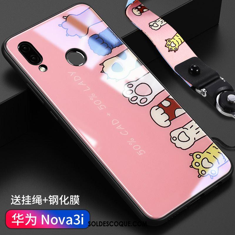Coque Huawei Nova 3i Verre Étui Tout Compris Ornements Suspendus Incassable Housse En Ligne