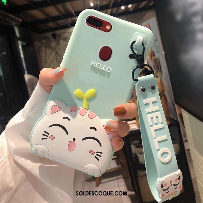 Coque Huawei P Smart Protection Dessin Animé Silicone Étui Vert Pas Cher