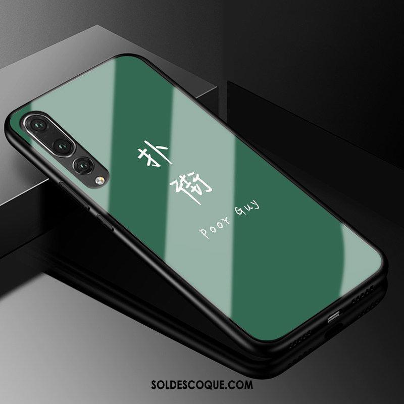 Coque Huawei P20 Pro Téléphone Portable Silicone Tout Compris Vert Verre Pas Cher