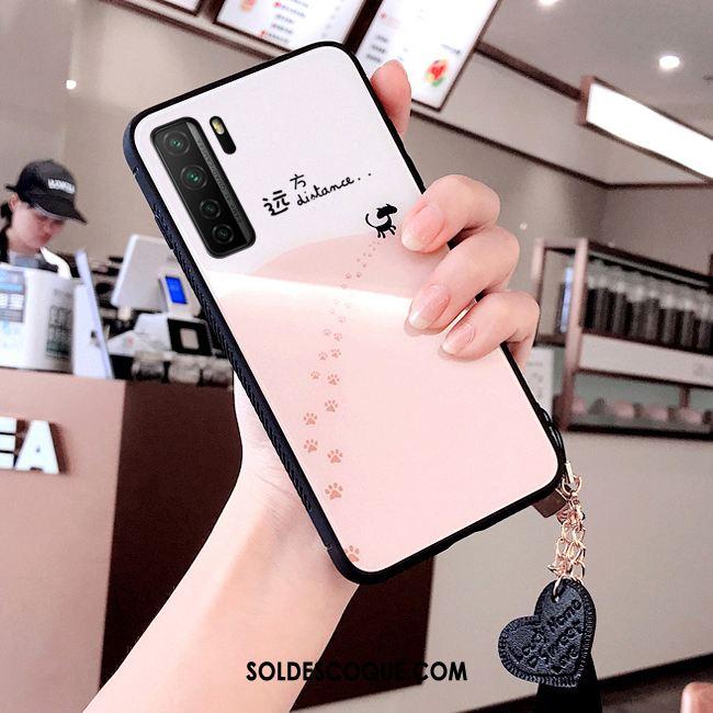 Coque Huawei P40 Lite 5g Créatif Frais Dessin Animé Rose Mode En Ligne