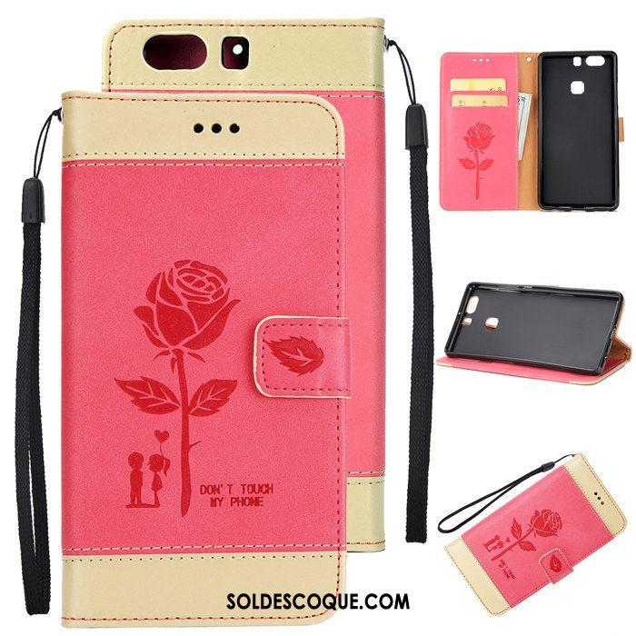 Coque Huawei P9 Plus Carte Incassable Portefeuille Téléphone Portable Fluide Doux En Ligne