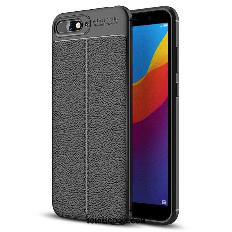 Coque Huawei Y6 2018 Nouveau Modèle Fleurie Gris Téléphone Portable Étui Soldes