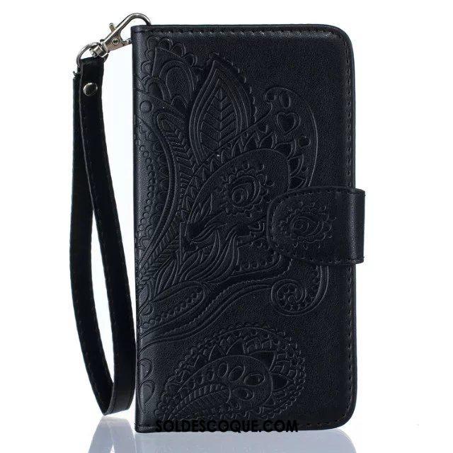 Coque Huawei Y7 2018 Incassable Téléphone Portable Paon Étui En Cuir Fleur Pas Cher