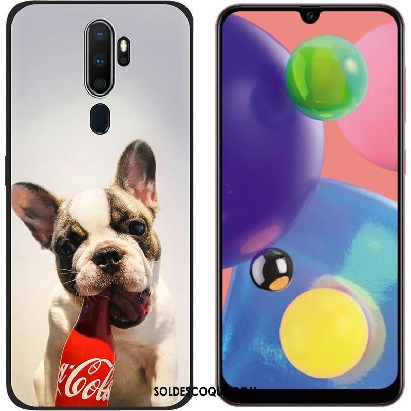 Coque Oppo A5 2020 Blanc Délavé En Daim Chaud Tendance Téléphone Portable En Vente