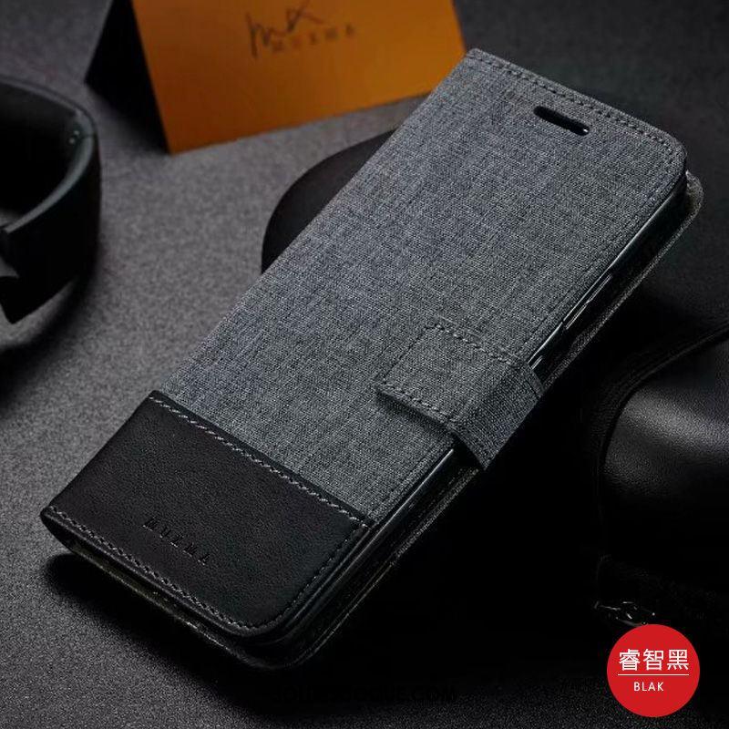 Coque Oppo A5 2020 Clamshell Carte Toile Étui En Cuir Téléphone Portable Pas Cher
