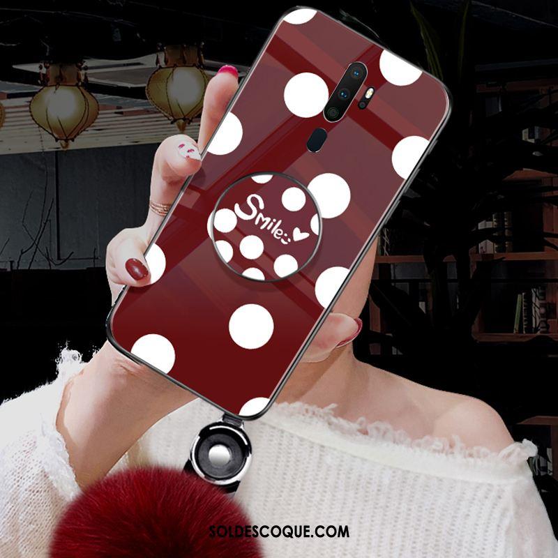 Coque Oppo A5 2020 Incassable Tendance Mode Noir Verre Pas Cher
