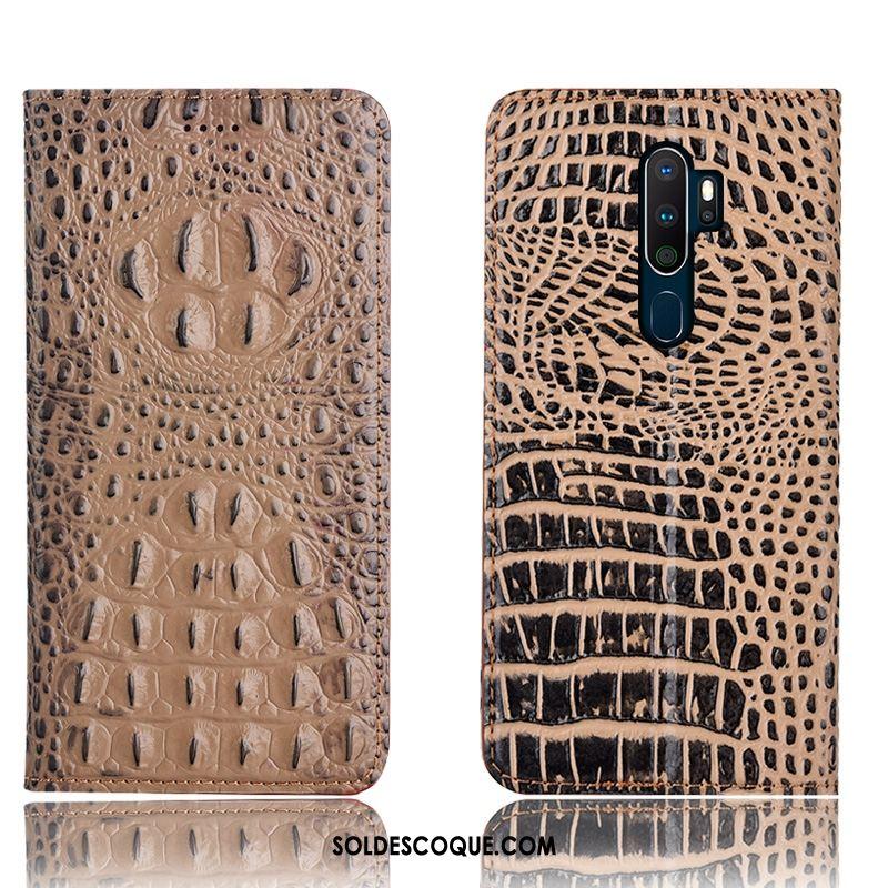 Coque Oppo A9 2020 Tout Compris Incassable Cuir Véritable Téléphone Portable Protection En Vente
