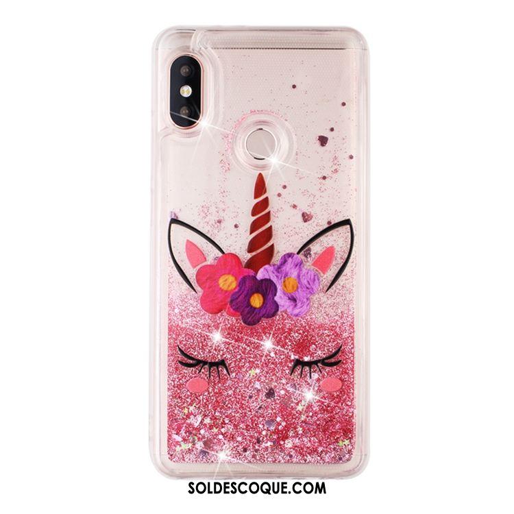 Coque Redmi Note 6 Pro Rose Quicksand Petit Liquide Téléphone Portable En Vente