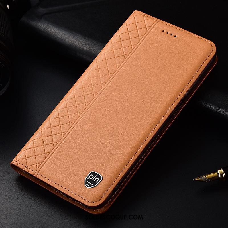 Coque Samsung Galaxy A40 Étui En Cuir Protection Plaid Cuir Véritable Étoile Housse France