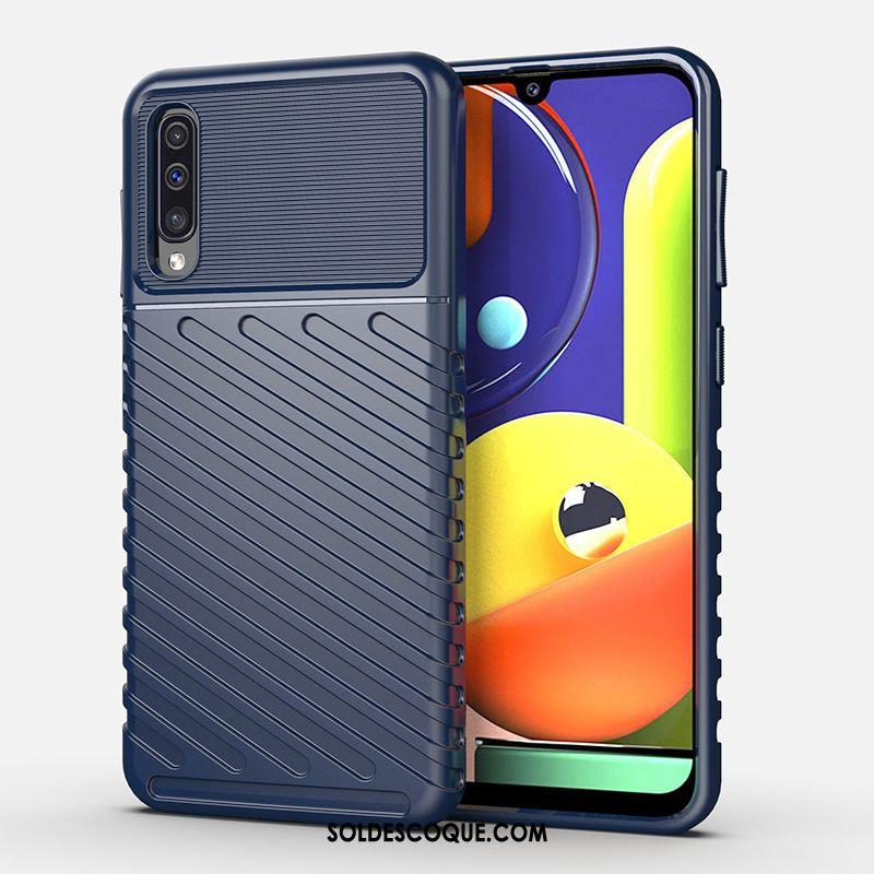 Coque Samsung Galaxy A50s Incassable Protection Téléphone Portable Bleu Étoile Pas Cher