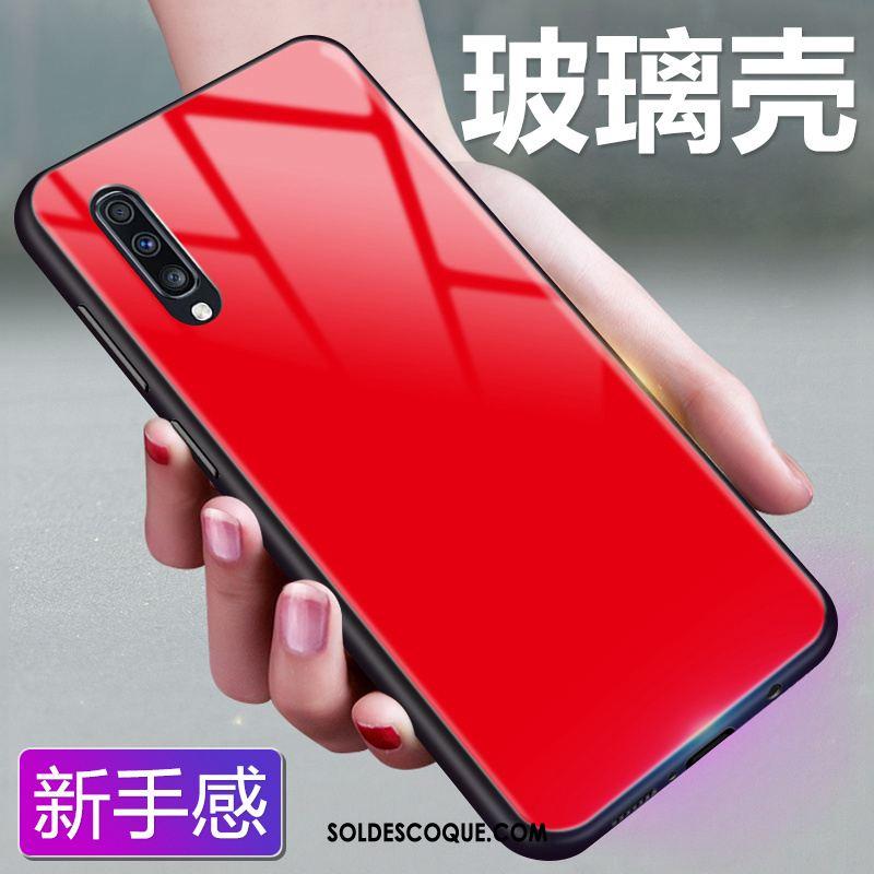 Coque Samsung Galaxy A70 Ciel Étoilé Couleur Unie Verre Fluide Doux Protection Pas Cher