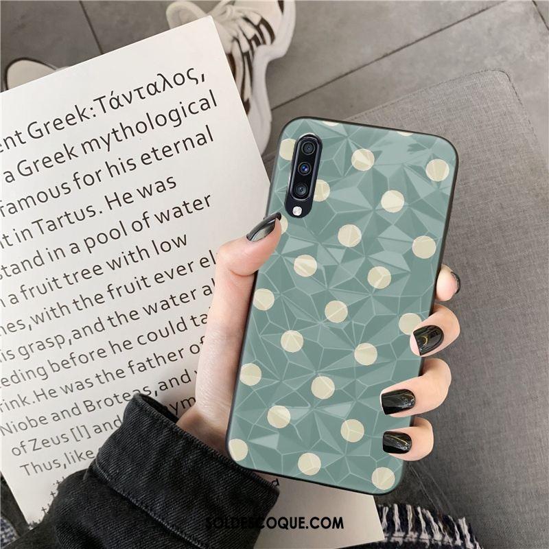Coque Samsung Galaxy A70s Étui Net Rouge Téléphone Portable Losange Modèle Fleurie Pas Cher