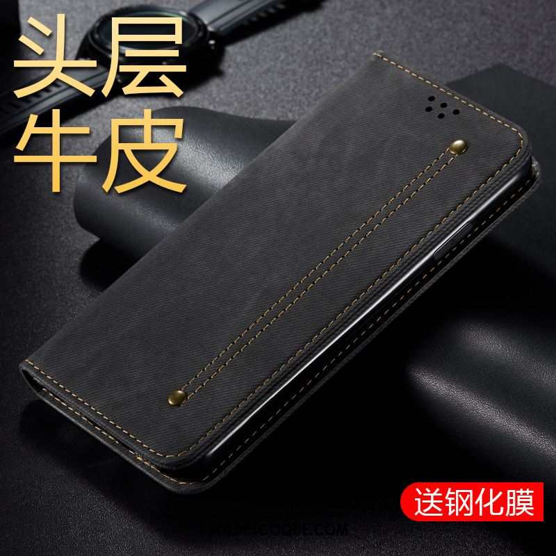 Coque Samsung Galaxy M30s Étui En Cuir Protection Business Téléphone Portable Incassable Pas Cher