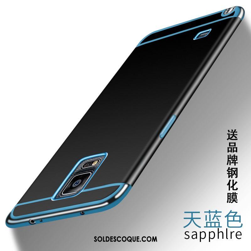 Coque Samsung Galaxy Note 4 Protection Bleu Téléphone Portable Fluide Doux Support France