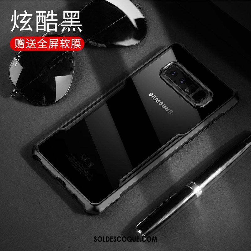 Coque Samsung Galaxy Note 8 Téléphone Portable Fluide Doux Transparent Délavé En Daim Incassable En Ligne