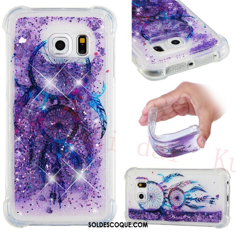 Coque Samsung Galaxy S6 Edge Quicksand Étoile Dessin Animé Téléphone Portable Silicone France