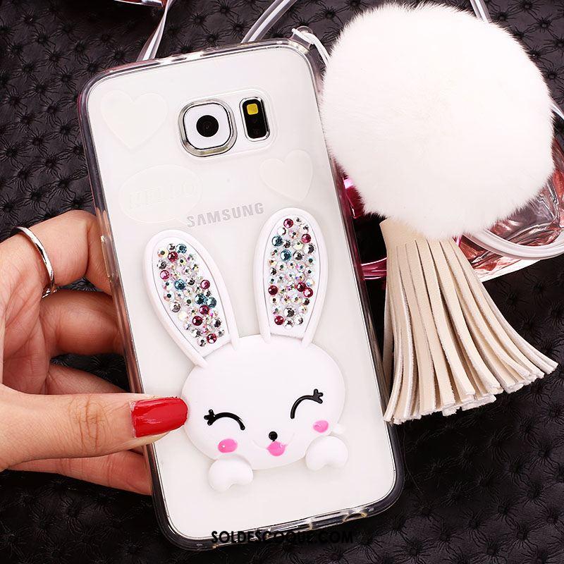 Coque Samsung Galaxy S6 Edge Silicone Téléphone Portable Protection Strass Étui En Vente