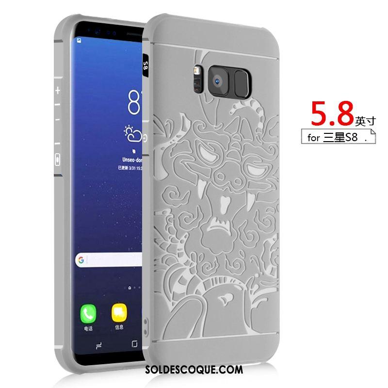 Coque Samsung Galaxy S8 Délavé En Daim Incassable Téléphone Portable Étoile Silicone En Ligne