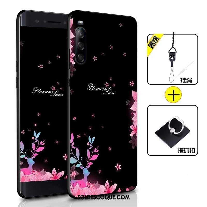 Coque Sony Xperia L4 Incassable Fluide Doux Téléphone Portable Étui Noir Pas Cher