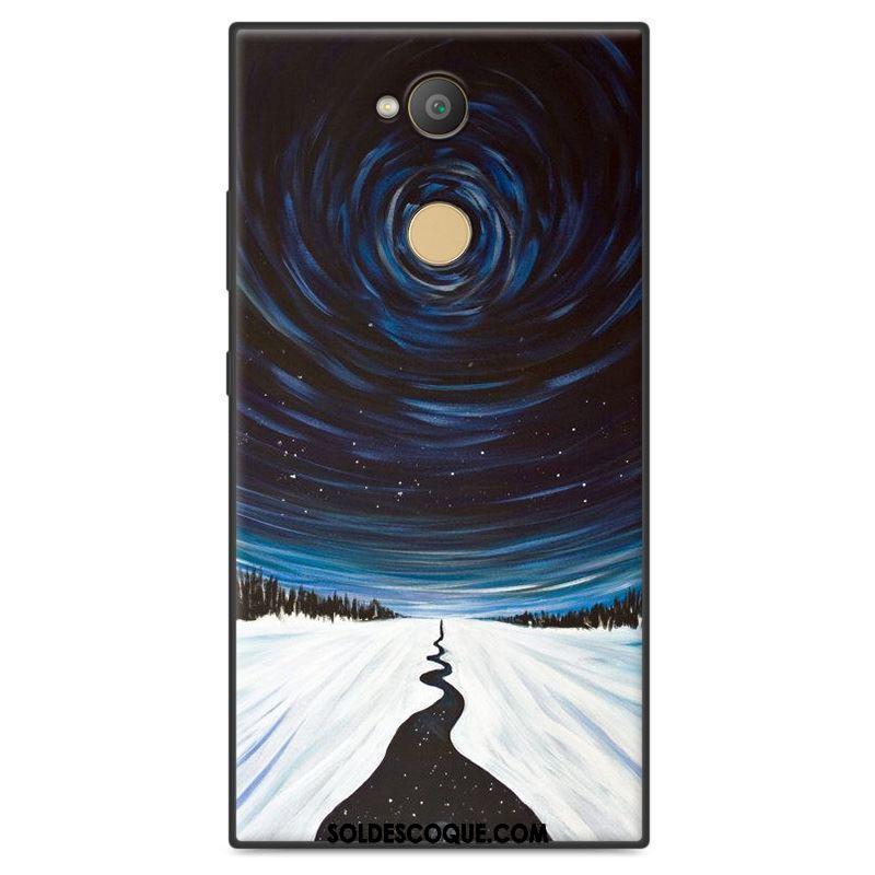 Coque Sony Xperia Xa2 Plus Fluide Doux Téléphone Portable Étui Gris Peinture Soldes