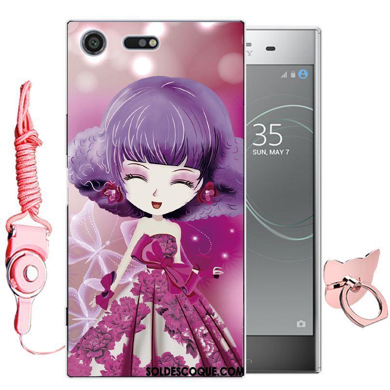 Coque Sony Xperia Xz Premium Dessin Animé Téléphone Portable Rose Étui Tout Compris En Vente