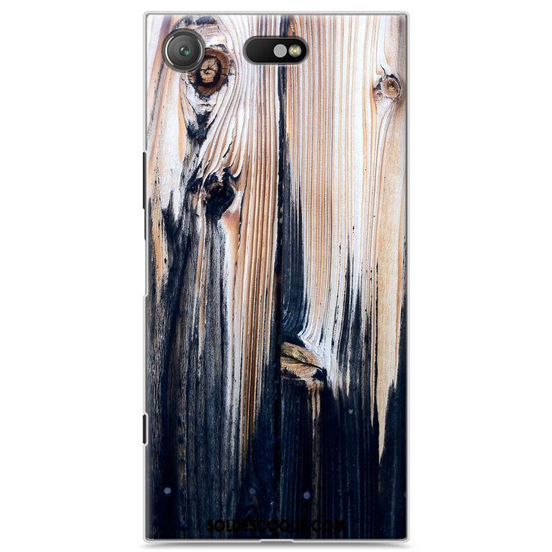 Coque Sony Xperia Xz1 Compact Téléphone Portable Créatif Étui Bois Blanc En Ligne