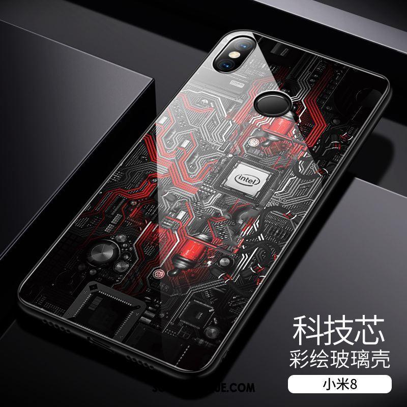 Coque Xiaomi Mi 8 Incassable Personnalité Petit Créatif Verre Trempé Soldes