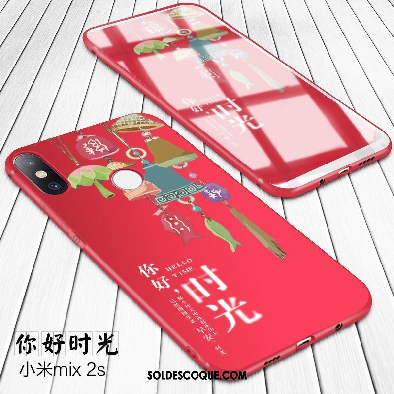 Coque Xiaomi Mi Mix 2s Délavé En Daim Tendance Silicone Incassable Protection En Vente