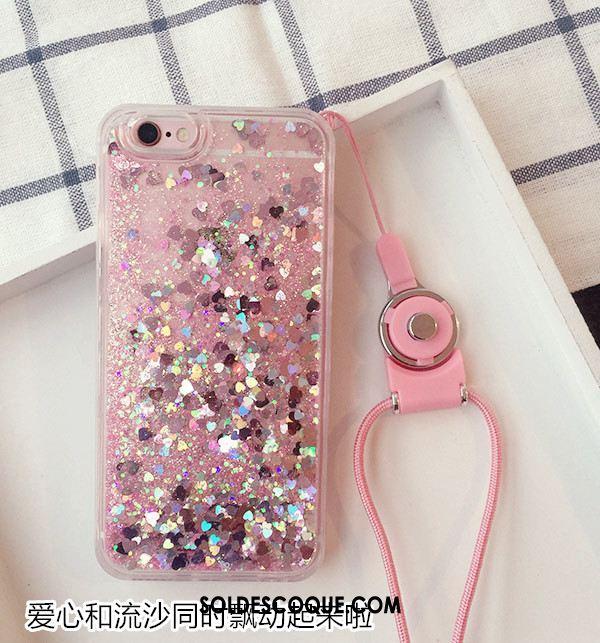 Coque iPhone 7 Quicksand Tendance Cou Suspendu Bleu Protection Pas Cher