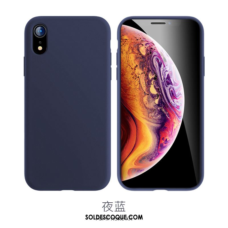 coque iphone xr silicone violet
