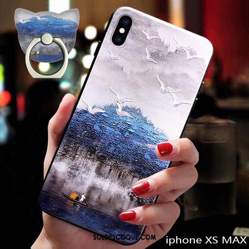 Coque iPhone Xs Max Bleu Tendance Incassable Téléphone Portable Tout Compris En Ligne