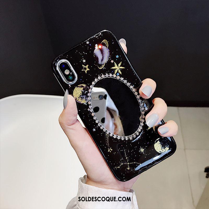 Coque iPhone Xs Max Silicone Ciel Étoilé Blanc Téléphone Portable Fluide Doux Pas Cher