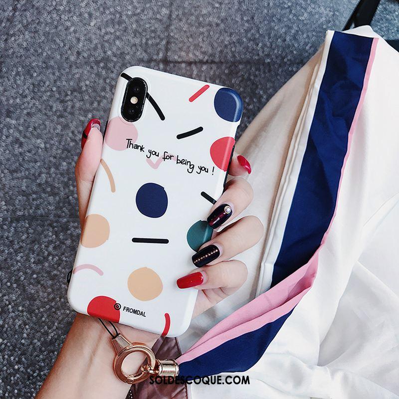 Coque iPhone Xs Max Silicone Téléphone Portable Étui Point D'onde Petit France