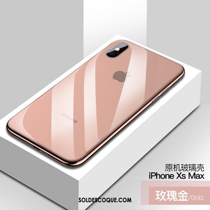 Coque iPhone Xs Max Transparent Verre Très Mince Téléphone Portable Incassable Pas Cher