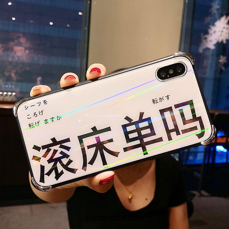 Coque iPhone Xs Transparent Créatif Silicone Luxe Verre Pas Cher