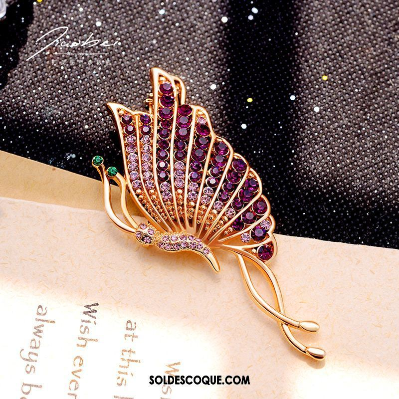 Broche Femme All-match Violet Papillon Corsage Costume France