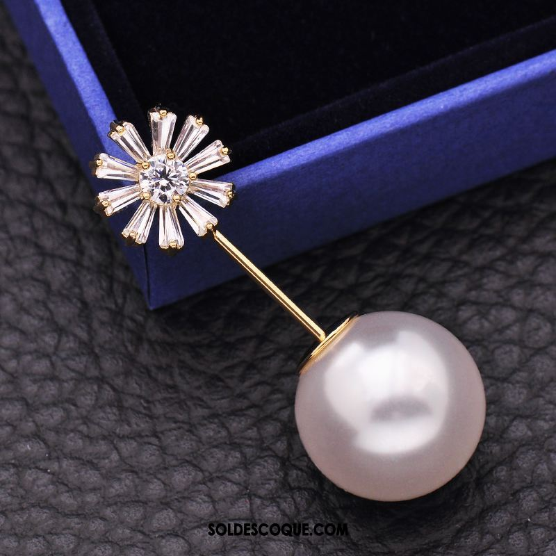 Broche Femme Manteau Simple Corsage Mode Chandail France