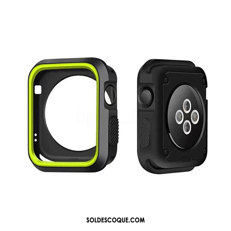 Coque Apple Watch Series 4 Accessoires Protection Silicone Border Incassable Pas Cher