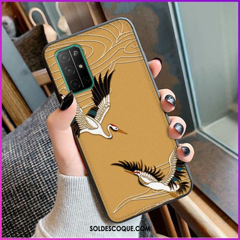 Coque Honor 30 Protection Cuir Grue Modèle Fleurie Téléphone Portable Pas Cher