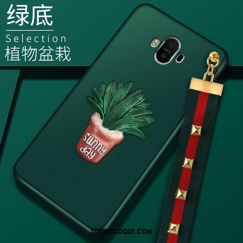 Coque Huawei Mate 10 Ornements Suspendus Tout Compris Téléphone Portable Vert Pas Cher