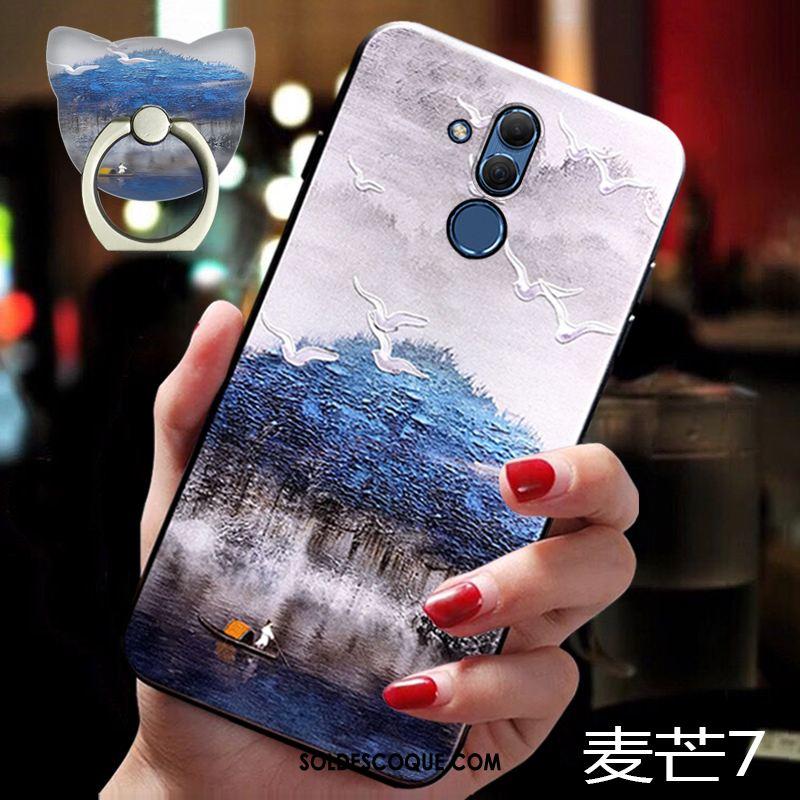 Coque Huawei Mate 20 Lite Créatif Marque De Tendance Très Mince Support Tout Compris Housse France