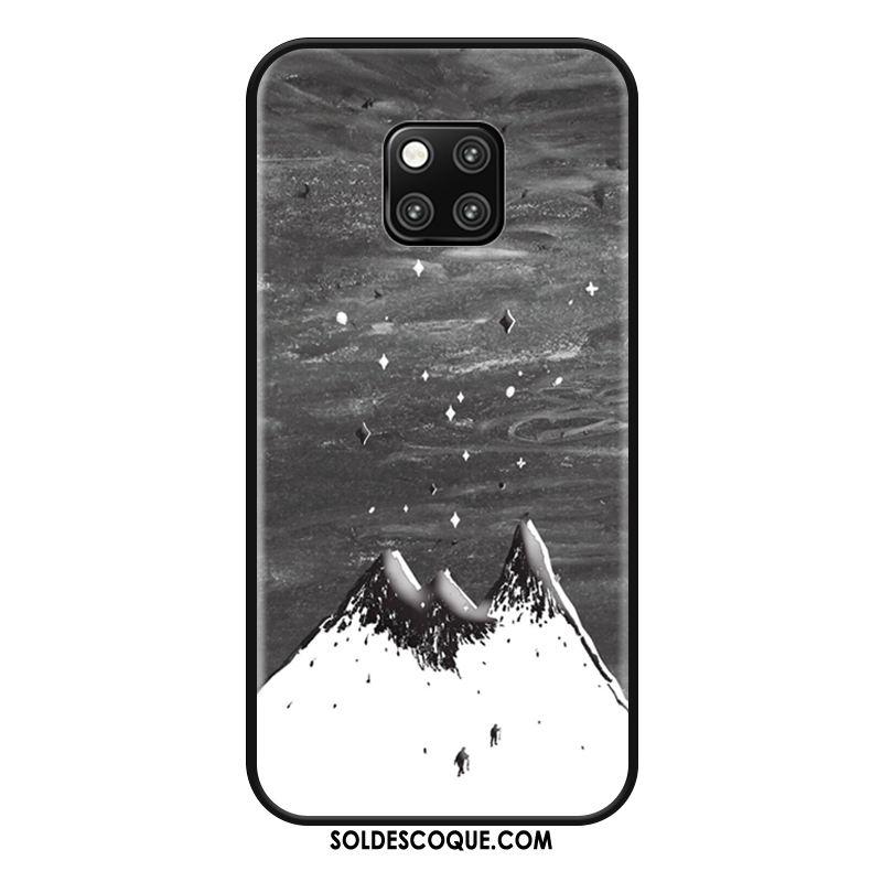 Coque Huawei Mate 20 Rs Téléphone Portable Gris Fluide Doux Tendance Blanc Soldes