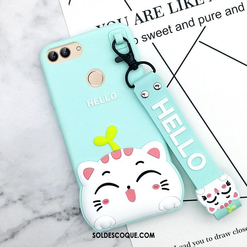 Coque Huawei P Smart Fluide Doux Tout Compris Téléphone Portable Dessin Animé Blanc Soldes
